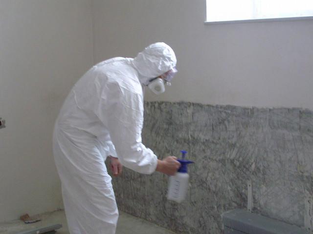 Обработка стен хлором